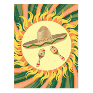 Sombrero and Maracas 3 Postcard