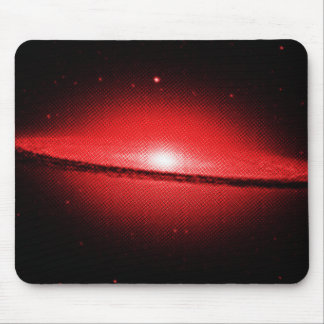 sombrero galaxy hubble image halftone dot red mouse pad