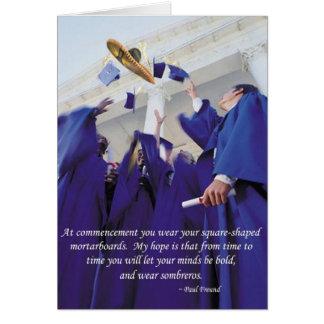 Sombrero Graduation Card