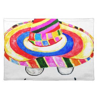 Sombrero Hat Watercolor 2 Placemat