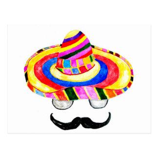 Sombrero Hat Watercolor 2 Postcard