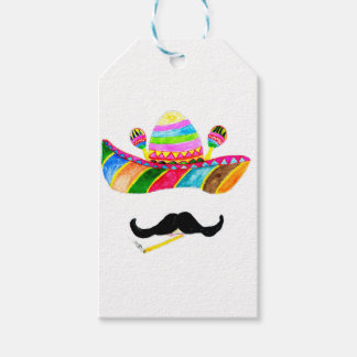 Sombrero Hat Watercolor Gift Tags