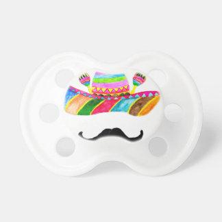 Sombrero Hat Watercolor Pacifier