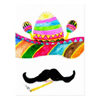 Sombrero Hat Watercolor Postcard