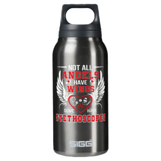 Some Angel Have Stethoscopes Nurse Shirt Insulated Water Bottle