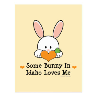 Some Bunny In Idaho Loves Me Postcard