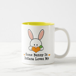 Some Bunny In Indiana Loves Me Mug