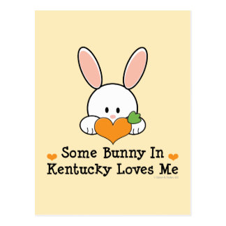 Some Bunny In Kentucky Loves Me Postcard