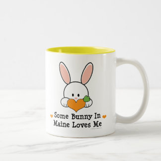 Some Bunny In Maine Loves Me Two-Tone Coffee Mug