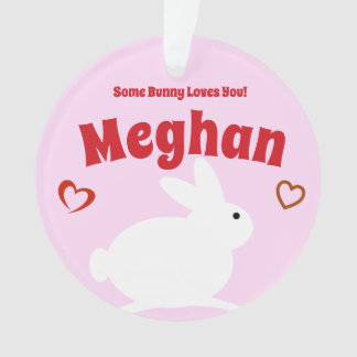 Some Bunny Loves You Personalized Ornament