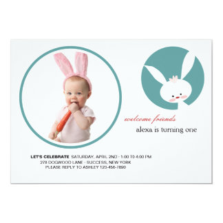 Some Bunny's Birthday Photo Invitation