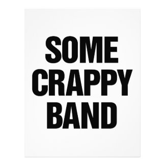 Some Crappy Band Customized Letterhead