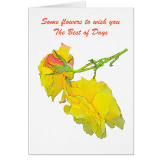 Some cut Roses Card