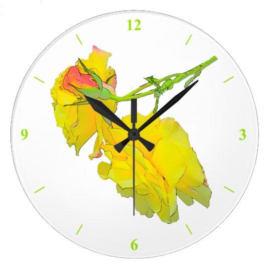 Some cut Roses Wall Clocks