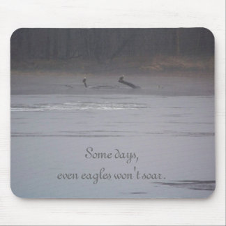 Some Days, Even Eagles Won't Soar Mouse Pad