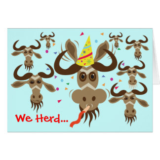 Some Gnu Stuff_We Heard...Your Good Gnus! Card