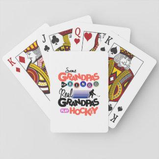 Some Grandpas Play Bingo Real Grandpas Play Hockey Playing Cards