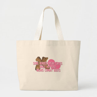 Some Heroes Wear Capes Large Tote Bag