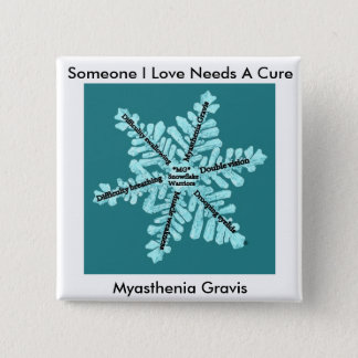Some I Love Needs A Cure- Myasthenia Gravis 2 Inch Square Button