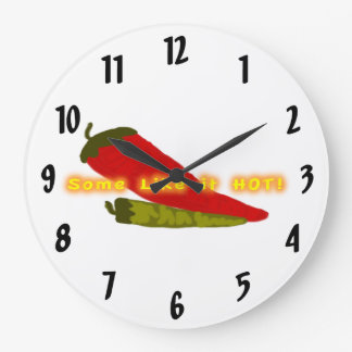 Some Like It Hot Chili Kitchen Large Clock