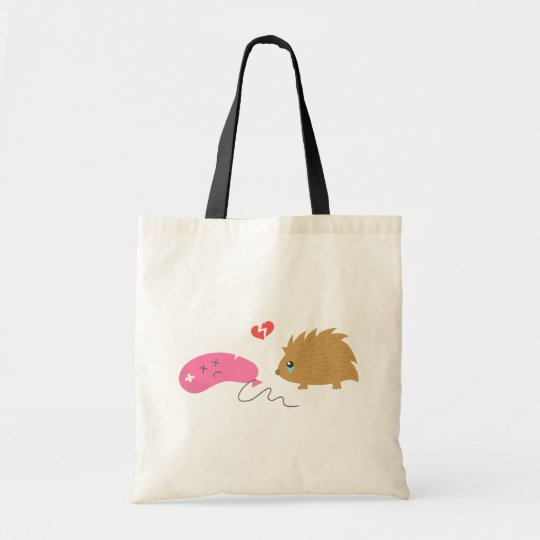 Some Love is not meant to be, funny hedgehog Tote Bag