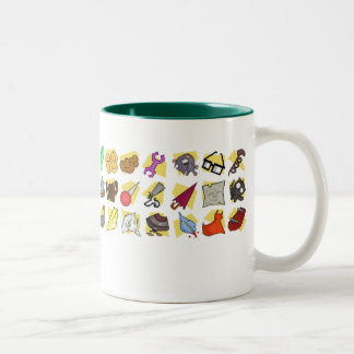 """""""Some of the neat stuff I've picked up."""" Two-Tone Mug"""