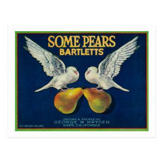 Some Pears Pear Crate LabelNapa, CA Postcard