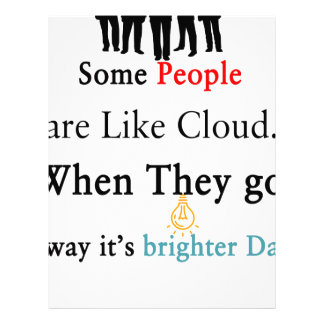 Some People are Like Clouds. When They go Away It' Customized Letterhead