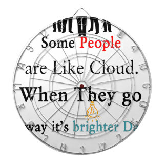 Some People are Like Clouds. When They go Away It' Dartboard