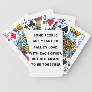 some people  are meant to fall in love with each o bicycle playing cards