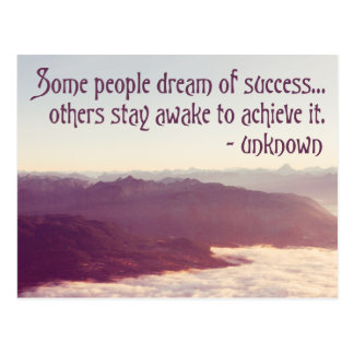 Some people dream of success... - quote postcard