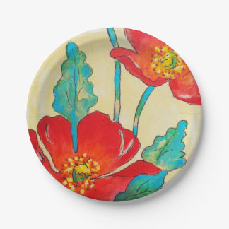 Some Poppies ! Paper Plate