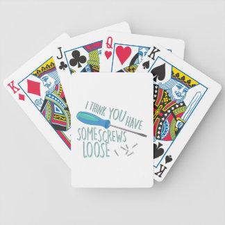 Some Screws Loose Bicycle Playing Cards