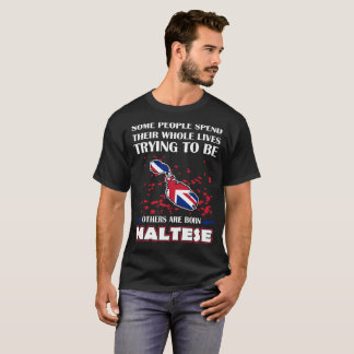 Some Spend Whole Lives Others Born Maltese Country T-Shirt