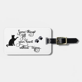 Some Things Fill My Heart... PawPrints Luggage Tag
