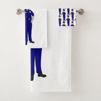 Some Women Clean Police Officer Humor Bath Towel Set