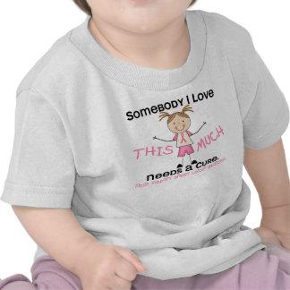 Somebody I Love - Breast Cancer (Girl) Tshirts
