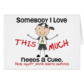 Somebody I Love - Juvenile Diabetes (Boy) Card