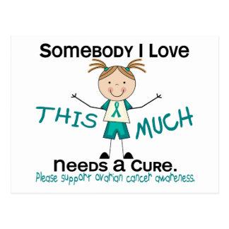 Somebody I Love - Ovarian Cancer (Girl) Postcard