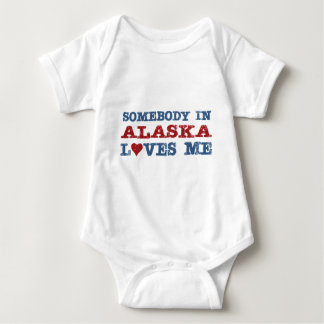Somebody In Alaska Loves Me Baby Bodysuit