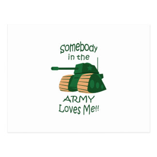 SOMEBODY IN ARMY LOVES ME POSTCARD