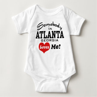 Somebody In Atlanta Georgia Loves Me Baby Bodysuit