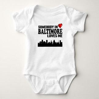 Somebody In Baltimore Loves Me Baby Bodysuit