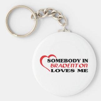 Somebody in Bradenton loves me t shirt Keychain