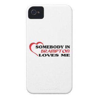 Somebody in Brampton loves me iPhone 4 Case-Mate Cases