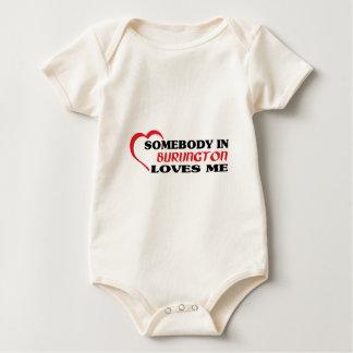 Somebody in Burlington loves me Baby Bodysuit