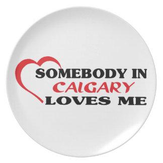 Somebody in Calgary loves me Plate