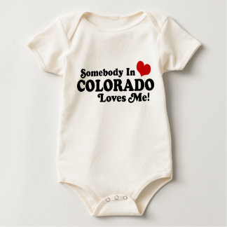Somebody In Colorado Loves Me Baby Bodysuit
