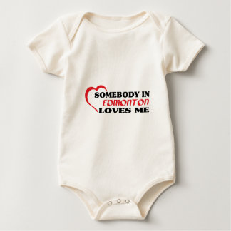 Somebody in Edmonton loves me Baby Bodysuit