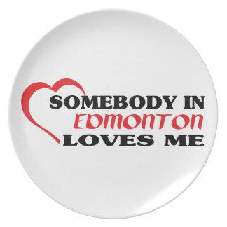 Somebody in Edmonton loves me Plate